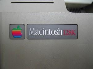 Macintosh 128K rear label