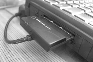 PowerBook 5300 with Wavelan 802.11b card installed