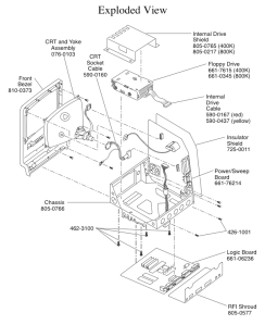 Macintosh 128K-512K exploded view