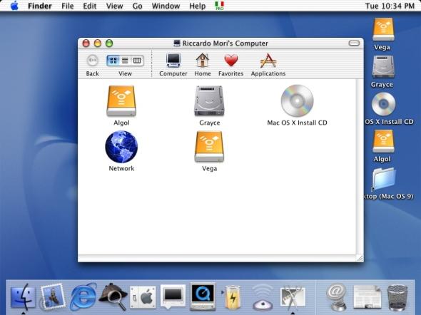 Mac OS X 10.0.3 Desktop