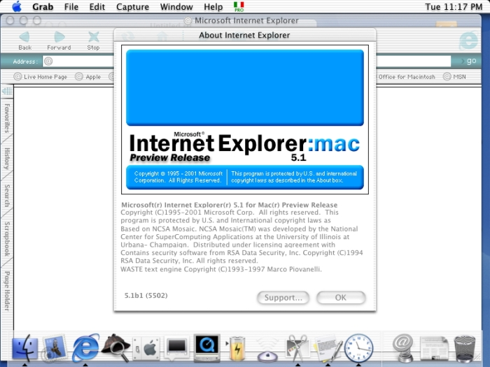 Internet Explorer 5.1 Preview Release