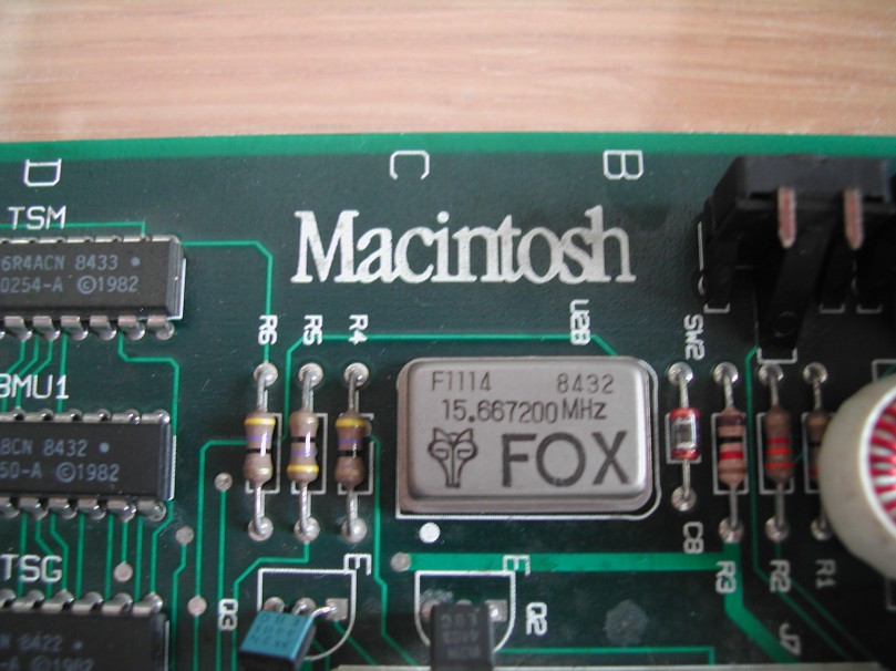 Mac 128K - Motherboard detail