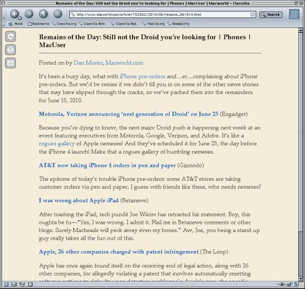 Classilla & Readability