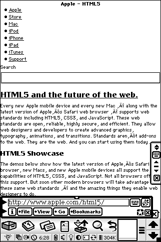 HTML5 on the Newton