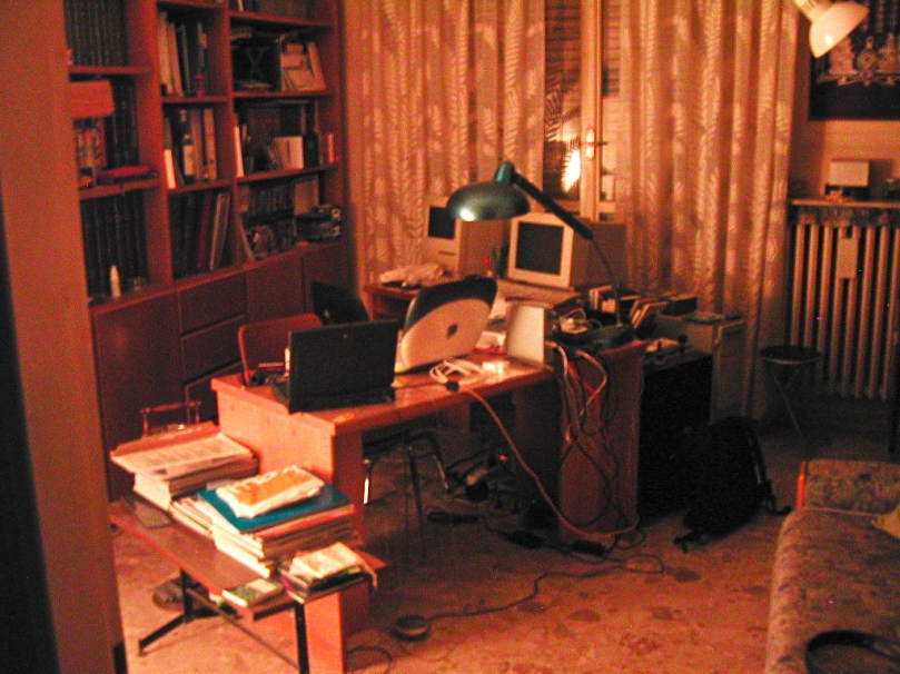 The studio at night