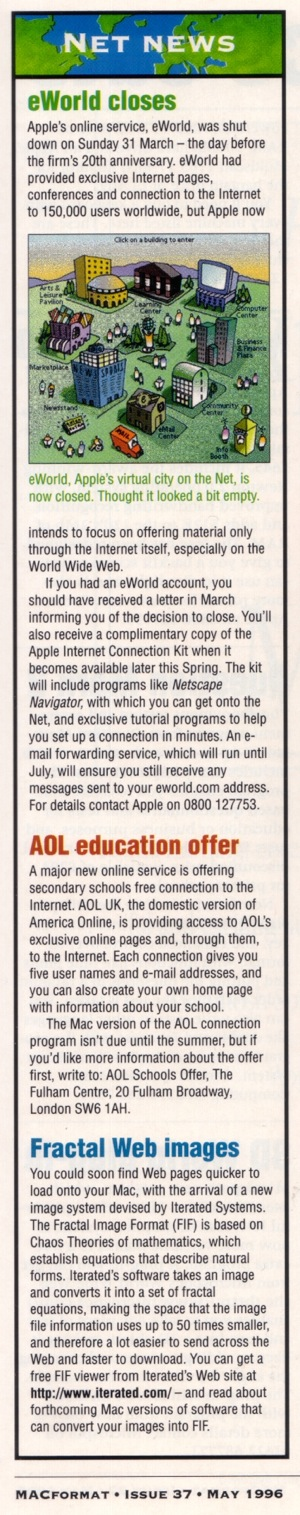 EWorld NetNews may1996