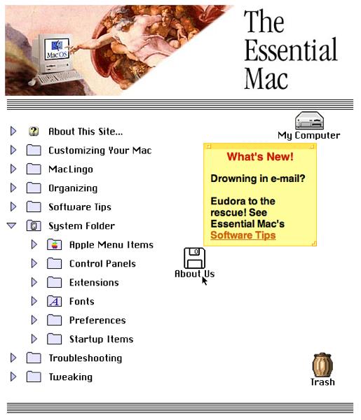 Essentialmac homepage