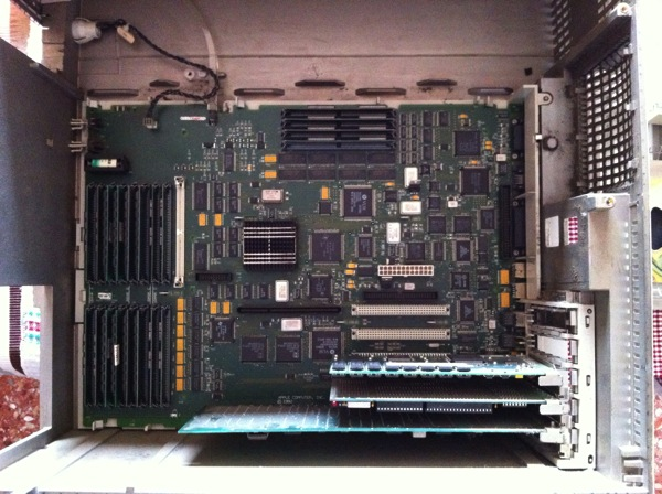 Quadra950 inside motherboard