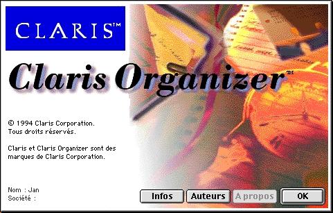 Claris Organizer 1F