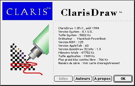 Claris Draw 1F