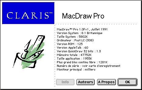 Claris MacDraw Pro 1F