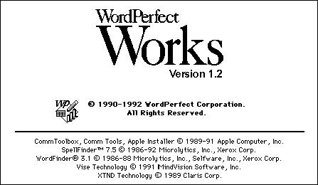 WordPerfect Works BN