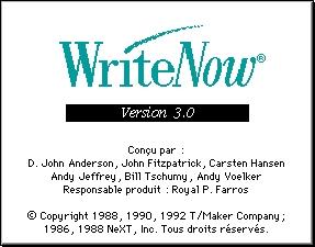WriteNow 3F