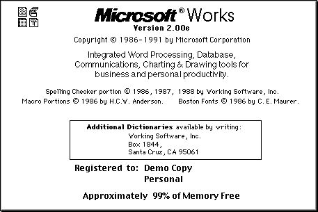 MS Works 2
