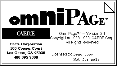 Omnipage 21