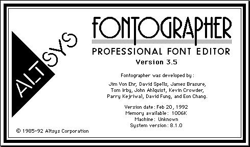 Fontographer 35
