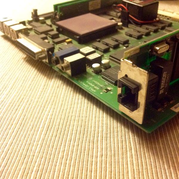 Comm Slot Ethernet card installed