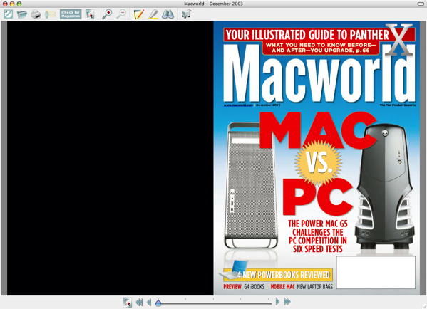 Macworld Dec 2003 cover