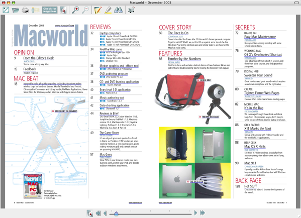 Macworld Dec 2003 TOC